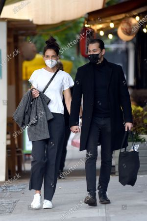 Editorial photo of Katie Holmes and Emilio Vitolo Jr. out and about, New York, USA - 19 Oct 2020