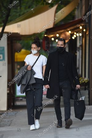 Editorial picture of Katie Holmes and Emilio Vitolo Jr. out and about, New York, USA - 19 Oct 2020