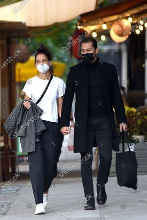 Editorial image of Katie Holmes and Emilio Vitolo Jr. out and about, New York, USA - 19 Oct 2020