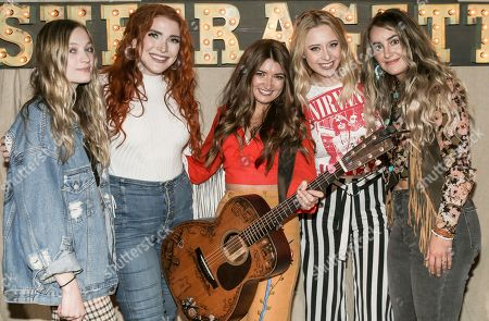 Stock Photo of Mia Morris, Caylee Hammack, Tenille Townes, Kalie Shorr and Lainey Wilson