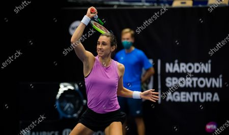 Stock Photo of Petra Martic of Croatia in action during the first round at the 2020 J&T Banka Ostrava Open WTA Premier tennis tournament
