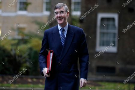 Jacob Rees-Mogg Britain's Leader of the House of Commons walks across Downing Street to attend a Cabinet meeting in London