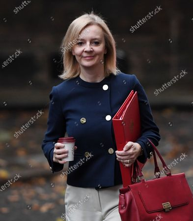 Stock Picture of British Secretary of State for International Trade and President of the Board of Trade, Minister for Women and Equalities Liz Truss arrives at 10 Downing Street for a cabinet meeting in London, Britain, 20 October 2020.