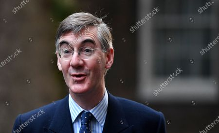 British Lord President of the Council, Leader of the House of Commons Jacob Rees-Mogg arrives at 10 Downing Street for a cabinet meeting in London, Britain, 20 October 2020.