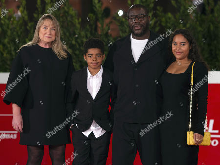 Steve McQueen with his wife Bianca Stigter and their children Dexter McQueen and Alex McQueen