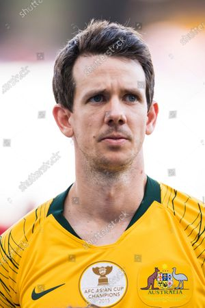 Robbie Kruse of Australia is seen prior to the AFC Asian Cup UAE 2019 Group B match between Australia (AUS) and Jordan (JOR) at Hazza Bin Zayed Stadium on 06 January 2019 in Al Ain, United Arab Emirates. Photo by Marcio Rodrigo Machado / Power Sport Images