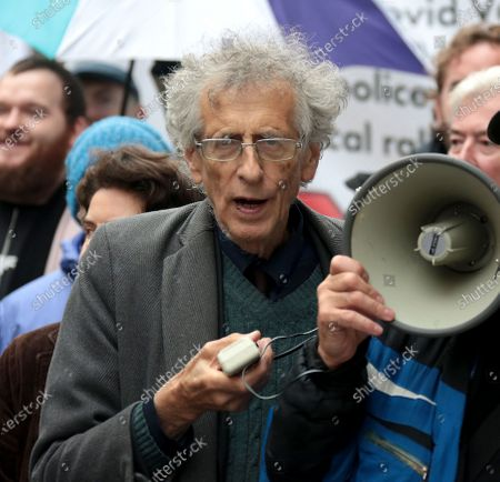 Piers Corbyn joined Protesters gather in London for the March for Freedom as they ask for end of Coronovirus restrictions at Leicester Square