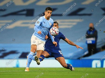 Joao Cancelo of Manchester City and Jesus Manuel Corona of Porto