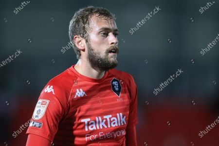 James Wilson (19) of Salford City during the game