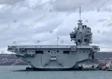 Stock Photo of Britain's newest aircraft carrier flooded to the depth of 3ft after a water leak in the engine room. It is the second time HMS Prince of Wales  a 3.1billion state-of-the-art ship  has flooded in the past five months. Footage filmed by crew members showed water gushing down the stairs and submerging electrical cabinets and pipes. An internal system developed a fault causing the flood on board the 65,000-ton warship while it was at its home port of Portsmouth Naval Base on Thursday. It is the second time that the warship has developed a leak. In May a video emerged of water pouring through the ceiling into an accommodation area.