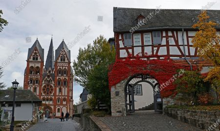 An exterior view of the Cathedral of Limburg in Limburg an der Lahn, Germany, 20 October 2020.