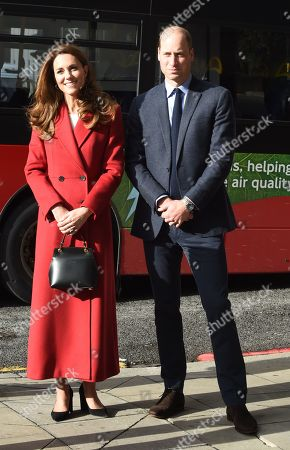 Stock Photo of Prince William and Catherine Duchess of Cambridge visit the launch of the Hold Still campaign at Waterloo Station