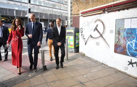 Prince William and Catherine Duchess of Cambridge visit the launch of the Hold Still campaign at Waterloo Station