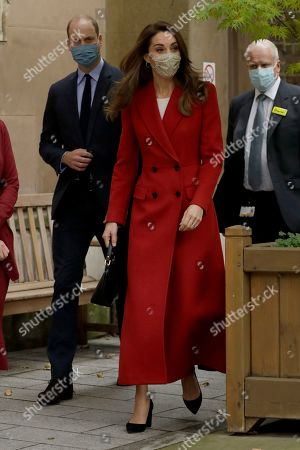 Prince William and Catherine Duchess of Cambridge arrive as they visit St. Bartholomew's Hospital in London, to mark the launch of the nationwide 'Hold Still' community photography project, Tuesday, Oct. 20, 2020.