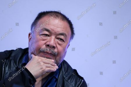 "Stock Picture of The Chinese contemporary artist Ai Weiwei during the press conference to announce the inauguration in Lisbon, next June, of the exhibition ""Rapture"", Lisbon, Portugal, 20 October 2020."