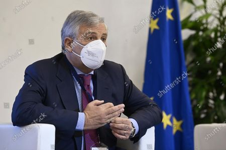 Former President of the European Parliament Antonio Tajani of Forza Italia, attends the Italy-Spain Dialogue Forum at the Representation of the European Commission in Italy, Rome, Italy, 20 October 2020.