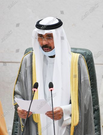 Emir of Kuwait Sheikh Nawaf Al-Ahmad Al-Jaber Al-Sabah addresses the inaugural session of the new parliament term at National Assembly in Kuwait City, Kuwait, 20 October 2020.