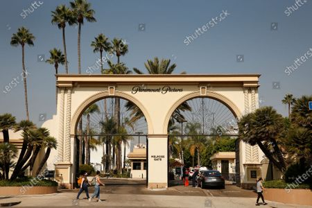Editorial image of The Melrose Gate of Paramount Pictures Studio located at 5555 Melrose Ave in Hollywood, Hollywood, Los Angeles, California, United States - 19 Oct 2020