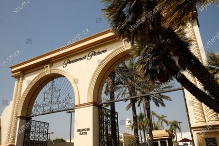 Stock Picture of The Melrose Gate of Paramount Pictures Studio located at 5555 Melrose Ave in Hollywood. A sexual assault suspect who was arrested on the Paramount lot early Monday after a 90-minute standoff with police has been identified as Bryan Gudiel Barrios. Fullerton Police Cpl. Billy Phu said that Barrios, 36, is currently hospitalized with non-lethal, self-inflicted knife wounds. Hollywood on Monday, Oct. 19, 2020 in Los Angeles, CA. (Al Seib / Los Angeles Times