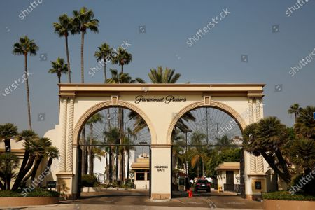Editorial picture of The Melrose Gate of Paramount Pictures Studio located at 5555 Melrose Ave in Hollywood, Hollywood, Los Angeles, California, United States - 19 Oct 2020
