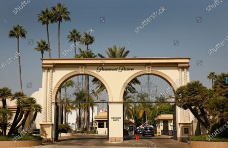 Editorial photo of The Melrose Gate of Paramount Pictures Studio located at 5555 Melrose Ave in Hollywood, Hollywood, Los Angeles, California, United States - 19 Oct 2020