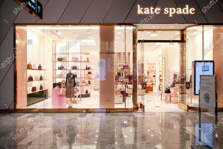Kate Spade logo and store seen in Hudson Yards.