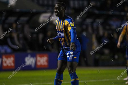 Daniel Udoh of Shrewsbury Town during the EFL Sky Bet League 1 match between Shrewsbury Town and Bristol Rovers at Greenhouse Meadow, Shrewsbury