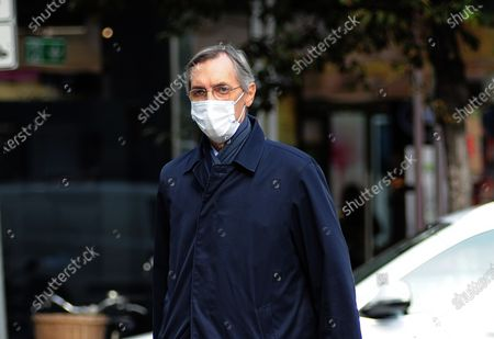 Editorial photo of Niccolo Ghedini returns from work, Milan, Italy - 20 Oct 2020