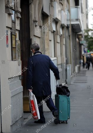 Editorial picture of Niccolo Ghedini returns from work, Milan, Italy - 20 Oct 2020