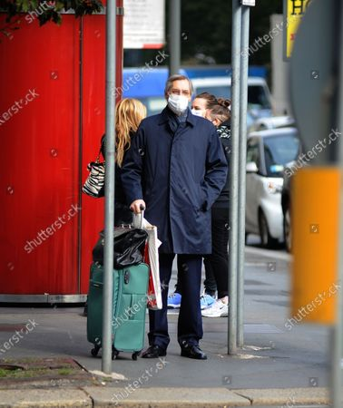 Stock Picture of Niccolo Ghedini is seen returning home from work