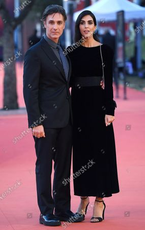 Raoul Bova (L) and his wife, Spanish actress Rocio Munoz Morales, arrive for the screening of 'Calabria, terra mia' at the 15th annual Rome International Film Festival, in Rome, Italy, 20 October 2020. The film festival runs from 15 to 25 October.