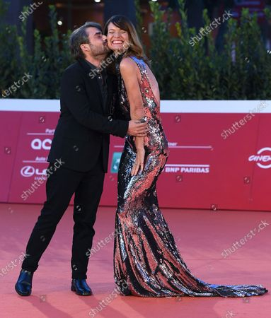 Jane Alexander (R) and Gianmarco Amicarelli (L) arrive for the screening of 'Druk' (Another Round) at the 15th annual Rome International Film Festival, in Rome, Italy, 20 October 2020. The film festival runs from 15 to 25 October.