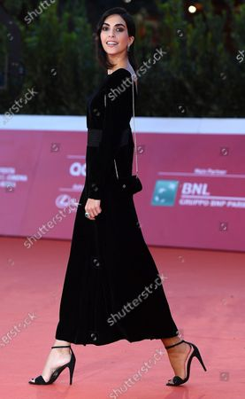Rocio Munoz Morales arrives for the screening of 'Calabria, terra mia' at the 15th annual Rome International Film Festival, in Rome, Italy, 20 October 2020. The film festival runs from 15 to 25 October.
