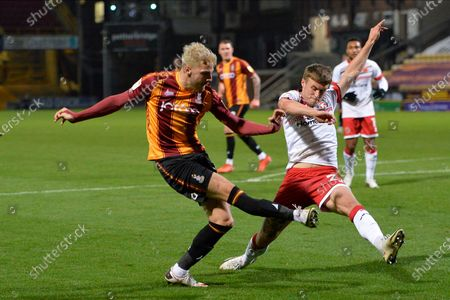 Tyler French during the EFL Sky Bet League 2 match between Bradford City and Walsall at the Utilita Energy Stadium, Bradford