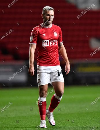 Andreas Weimann (14) of Bristol City during the EFL Sky Bet Championship match between Bristol City and Middlesbrough at Ashton Gate, Bristol
