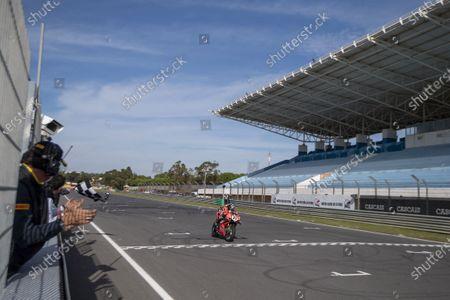 Scott Redding GBR Ducati Panigale V4R ARUBA.IT Racing - Ducati  2st Classified - arrival during Round 8 Pirelli Estoril Round Race2, World SuperBike