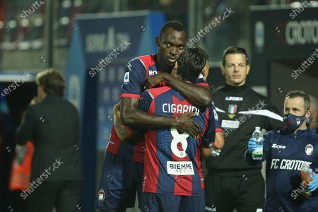 Simeon Nwankwo and Luca Cigarini