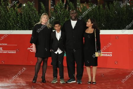 Stock Picture of Steve McQueen, Bianca Stigter and children