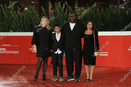 Stock Image of Steve McQueen, Bianca Stigter and children
