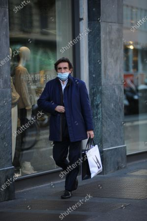 Editorial picture of Urbano Cairo out and about, Milan, Italy - 16 Oct 2020