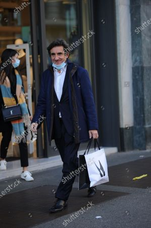 Editorial image of Urbano Cairo out and about, Milan, Italy - 16 Oct 2020