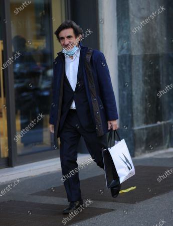 Editorial photo of Urbano Cairo out and about, Milan, Italy - 16 Oct 2020
