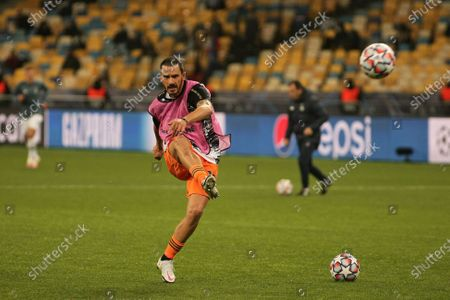 Defender Leonardo Bonucci of Juventus FC kicks the ball before the UEFA Champions League Matchday 1 Group G game against FC Dynamo Kyiv at the NSC Olimpiyskiy, Kyiv, capital of Ukraine.