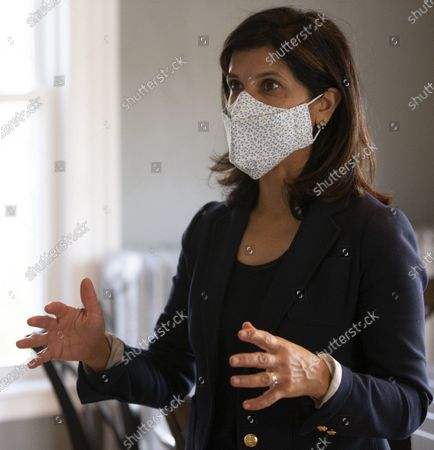 Democratic candidate for United States Senate Sara Gideon tours the Crossroads treatment center, during a campaign stop in Portland, Maine, USA, 20 October 2020. Gideon is challenging incumbent Republican Senator Susan Collins of Maine in the upcoming election on 03 November 2020.