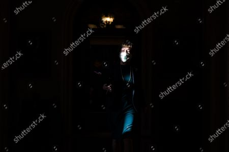 Republican Senator Susan Collins walks off the senate floor in the US Capitol in Washington, DC, USA, 20 October 2020. Speaker Pelosi gave the White House until the end of the day to come up with another stimulus bill. The Senate plans to vote on their own stripped-down bill later in the week.