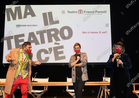 Editorial image of Franco Parenti Theater presentation of the 2020-2021 season, Milan, Italy  - 20 Oct 2020
