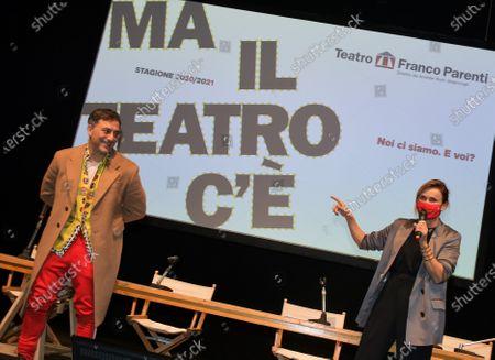 Filippo Timi and Lucia Mascino