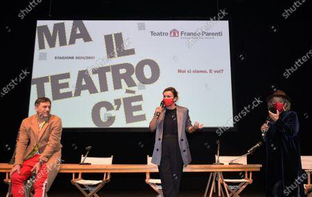 Stock Photo of Filippo Timi and Lucia Mascino,  Andree Ruth Shammah