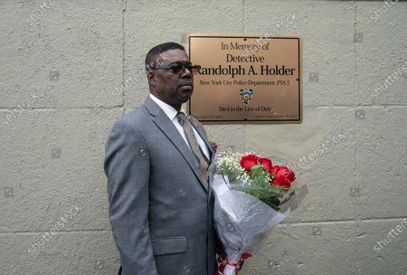 Editorial photo of Bridge dedication in memory of Randolph Holder, New York, United States - 20 Oct 2020
