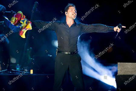 Editorial image of David Bisbal in concert, Nits al Carme, Valencia, Spain - 13 Aug 2020
